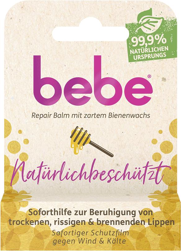 bebe Lippenpflege - Natuerlichbeschuetzt Lippenpflegestift und Repair Balm - Lippenpflege mit Bienenwachs – Soforthilfe gegen brennende Lippen