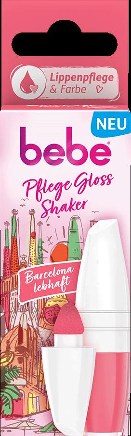 bebe Lippenpflege - Pflege Gloss Shaker Barcelona - Lippenpflege mit Farbe - Frisches Pink