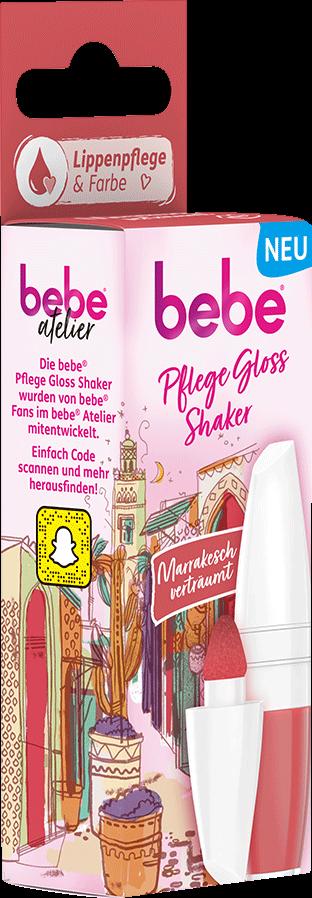 bebe Lippenpflege - Pflege Gloss Shaker Marrakesch - Lippenpflege mit Farbe - Korall