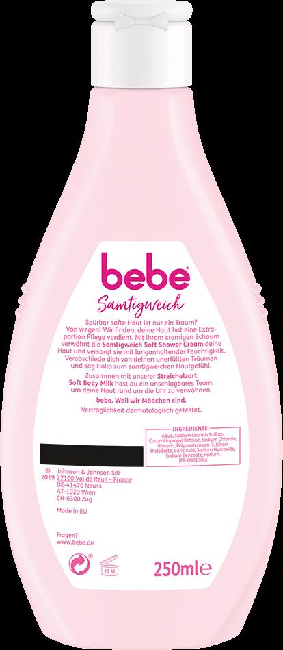 bebe Koerperreinigung und Duschen - Samtigweich Soft Shower Cream - Cremedusche mit extra Feuchtigkeit