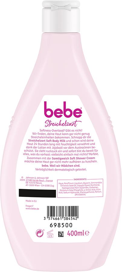 bebe Koerperpflege - Streichelzart Soft Body Milk - Bodylotion für trockene Haut