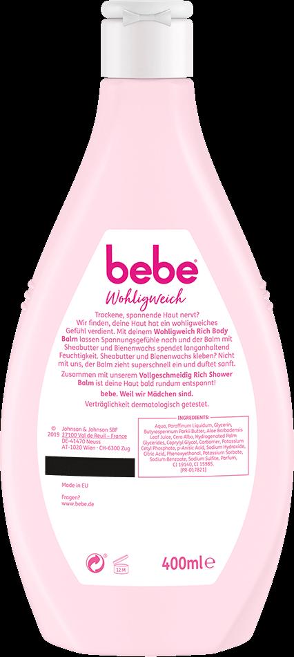 bebe Koerperpflege - Wohligweich Rich Body Balm - Intensive Pflegeformel mit Sheabutter und Bienenwachs
