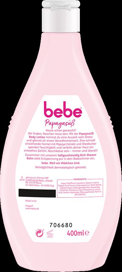 bebe Koerperpflege - Papayasuess Bodylotion - Bodylotion mit Papaya Extrakt und Sheabutter