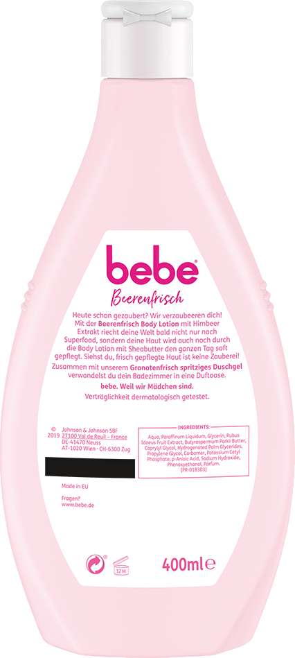 bebe Koerperpflege - Beerenfrisch Bodylotion - Bodylotion mit Himbeer-Extrakt und Sheabutter